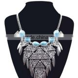Anti-silver gold plated statement necklace big pendant necklace for women                                                                         Quality Choice