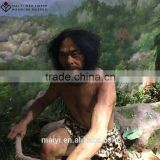 Ancient primitive man wax figurefor sale silicone sculpture