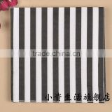 Black and White Strip Daily House Style 100% virgin wood pulp Food-grade Printed Tissue Paper Napkin