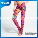 fitness black girls 90% polyester 10% spandex yoga pants wholesale