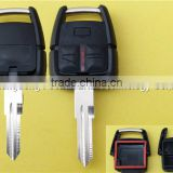 Opel 3 buttons remote key shell with right blade with light no logo car key Opel wholesale