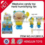 China shantou chenghai toy factory surprise sweet candy toys Waybuloo Hand humidifying fan 6pcs