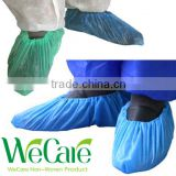 Disposable plastic waterproof Blue Elastic CPE shoe cover
