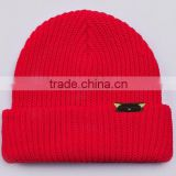 Red custom hip hop beanies,organic beanies,wholesale cotton baby beanies