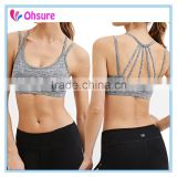 OEM supply heathred color fitness wear sports clothing active bra for women