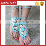 V-989 Beach Crochet Infinity Barefoot Sandals Toe Foot Bracelets Crochet Sexy Barefoot Sandal Crochet Foot Ankle Chain Toe