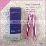 Empty mascara cosmetic plastic packaging tube with fiber brush