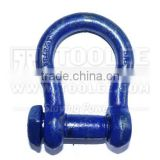1118-Trawling Bow Shackle Oversize Square Head Pin Commercial Type