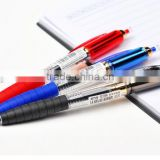 G-1246 Retractable various color gel ink with rubber promotional pen