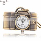 wholesale digital camera pocket watch necklace with chain in gift box