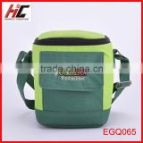 wholesale custom cheap 2014 new arrival eco friendly green cans brand cooler sling bag shoulder outdoor picnic bag