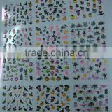 24styles Halloween 3D Nail Art Stickers Decals Skull Bones Crossbones Bat Spiders HN1382