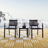 Low price 3pcs chair and end table outdoor patio set used home balcony furniture