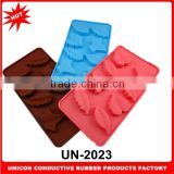 2014 New design leaf shape 100% silicone jelly candy moulds baking paper liners jelly candy moulds for cake decoration UN-2023