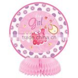 Pink Girl's Cute Clothes baby shower party Mini paper honeycomb table decorations
