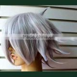 fashion silver grey short bob synthetic hair cosplay wig