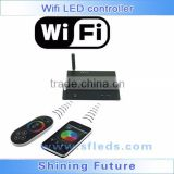 Wifi LED controller for Iphone,Ipad,Android cell phone ,DC12V-24V,12A,with RF touch remote, 1-10v remote control