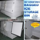 bagged ice storage bin of double compartment design VT400