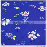 funny flower blue cloth printed 100%cotton 40*40 110*70 poplin fabric for childrens shirt fabric
