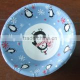 "7"" disposable logo printing rice paper water bowlrice paper water bowl"