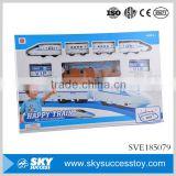 Popular sales children blue tracks electric train toy with light