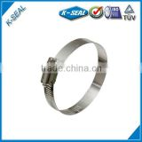 American type nail clamp,snap-on cover hose clamp, perforated type/style hose clamp KB52SS