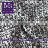 Wholesale black/white trendy tweed fabric, fancy thick black white plaid fabric for scarf