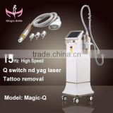 CE Certificated compact hair removal laser 1064nm ndyag tatoo removal beauty machine in alibaba