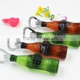 2015 New Style 3D Artificial Beer Bottle Opener Fridge magnet for Promotional Gifts and Kitchen Display