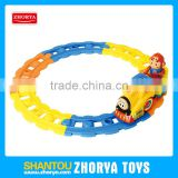 Plastic electric cartoon train cars toys educational toys BO track cars for kids