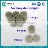 3oz tungstent alloy kits 8pcs tungsten wafers