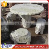 Costomize carving elephant marble bench and dining table NTS-B004LI