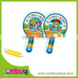 Cheap pvc inflatable toy small ball baby play soft tennis racket