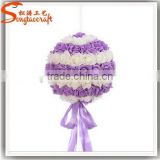 Artificial silk fabric COLORFUL rose flower balls for wedding customized artificial rose flower balls for sale