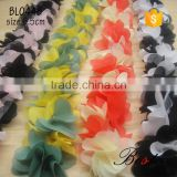New vintage custom colorful chiffon flower trimming for clothes