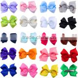 China suppliers 3 inches ribbon boutique hair bows with clip,Girls Big Hair Grosgrain Ribbon Hair Bows With Clips