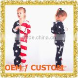 Customized full print hooded one piece children jumper suit zip-up romper with hood belly dance outfit