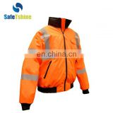High visibility reflective safety orange jackets for women safety jacket orange