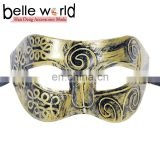 Hot Sale Gold Silver Color Venice Masks Copper-colored half face eye mask for men