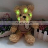 HI CE hottest led valentine gift kids light up toys lovely teddy bear with t-shirt