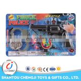 High quality kids military police set funny plastic toy gun safe