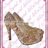 Aidocrystal classic embroidered rhinestone low heel, Italian fashion women shoes summer sandals