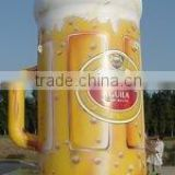 beer advertising sales promotion lifelike pvc inflatable beer mug image