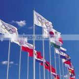 Olympics colorful flying sports flags