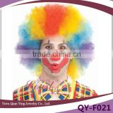 funny rainbow clown fake synthetic afro hair wigs