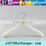 YY0392 white men suit rubber coated hanger rubber paint clothes hanger for boutique shop