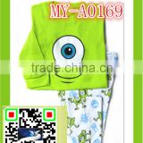 cartoon pajamas with big eyes print for 2-7 years boys MY-A0169
