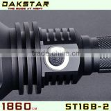 DAKSTAR New Arrival ST16B-2 MT-G2 1860LM Side Switch Stepless Dimming Tactical Flashlight Rechargeable With CREE                                                                         Quality Choice