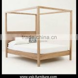 BE-082 Wooden Four-Poster Canopy Bed