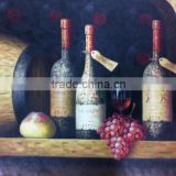 Low Price High Quality in Stock Buying Directly Handmade Wine Bottle Wall Art on Canvas for Home Hotel Decoration